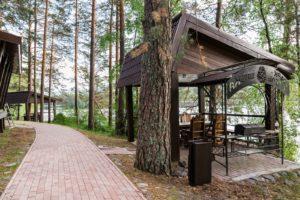 Мангальная зона и беседка Парк-отель Шишка Горный Алтай